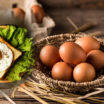 Five different foods from nutritionally high eggs