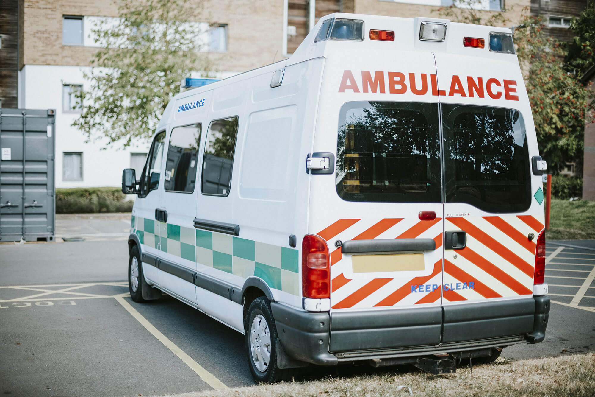 British ambulance parked